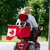 GO CANADA! : Wellington, ON : Spotted on the roadside, traveling to the local Canada Day celebrations in downtown Wellington.