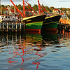 Berth Twins: Lunenburg, Nova Scotia, Canada {another shot passing by from out in the harbour}