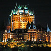Le Chteau Frontenac : Quebec City ; {shot handheld, aboard a moving ferry boat, crossing the St.Lawrence River} {ISO/1600, .05sec(1/20), f:2.8 , 75mm (KM/28-75mm)}