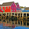 Red and Blue: Lunenburg, Nova Scotia, Canada ; from the bayside